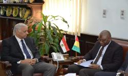 Alexandria University receives Ambassador of Guinea to discuss arrangements for sending medical convoy to Conakry