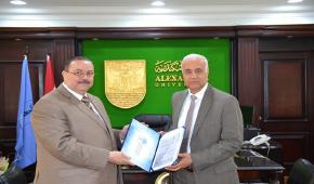 أشرف حافظ أمينًا عامًا لجامعة الاسكندرية
