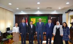 Alexandria University receives a Chinese delegation to discuss ways of cooperation